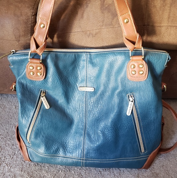 Timi & Leslie Other - Timi and Leslie teal Kate Diaper bag